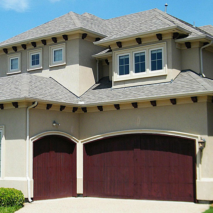 Modern home in Vancouver WA with a new garage door