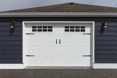 Attirant Garage Door Blue House